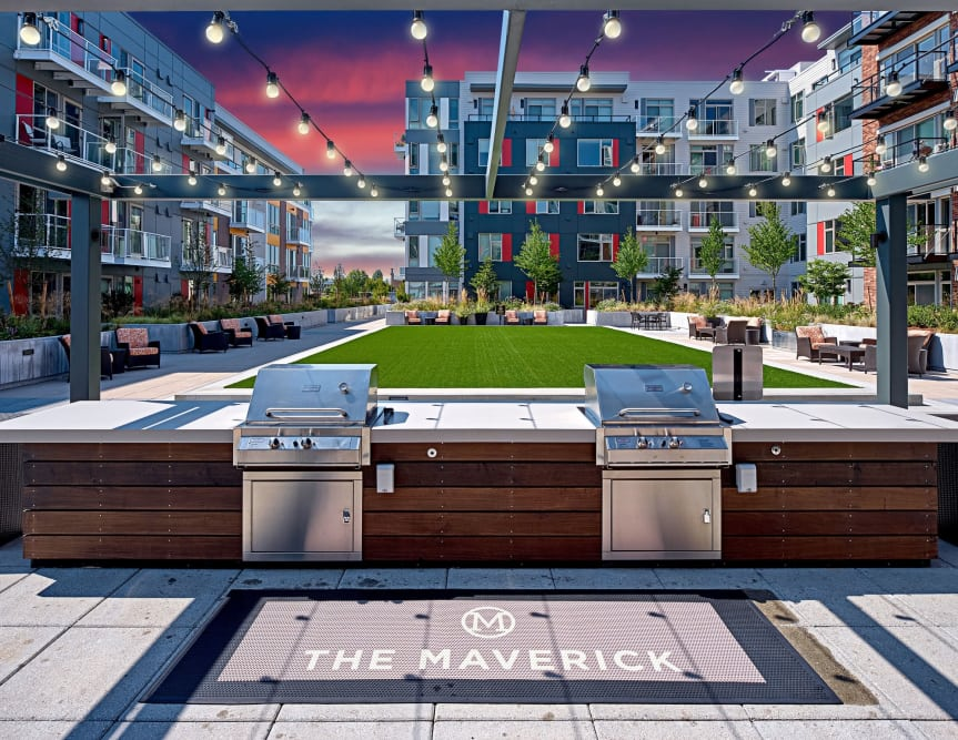 Enjoy Apartments with a BBQ Area at The Maverick