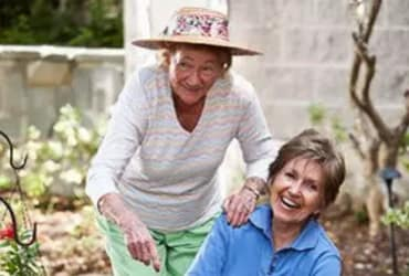 Senior living residents gardening outdoors in The Villages