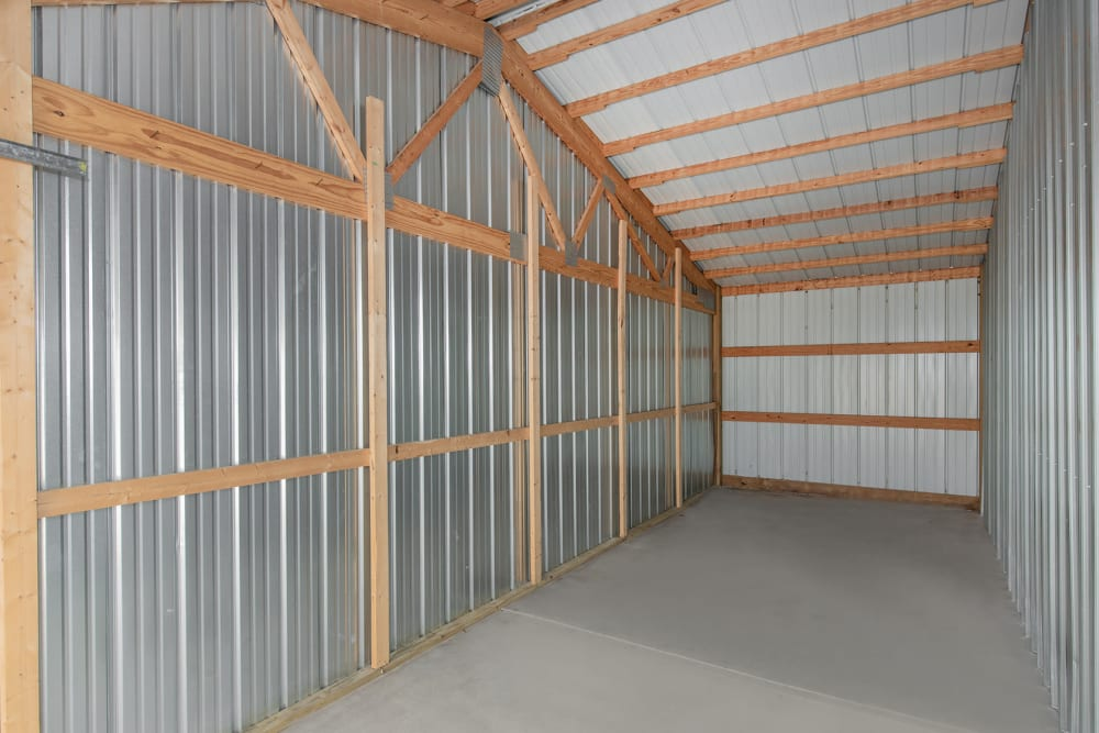 Spacious storage unit with a high ceiling at StayLock Storage in Bettendorf, Iowa
