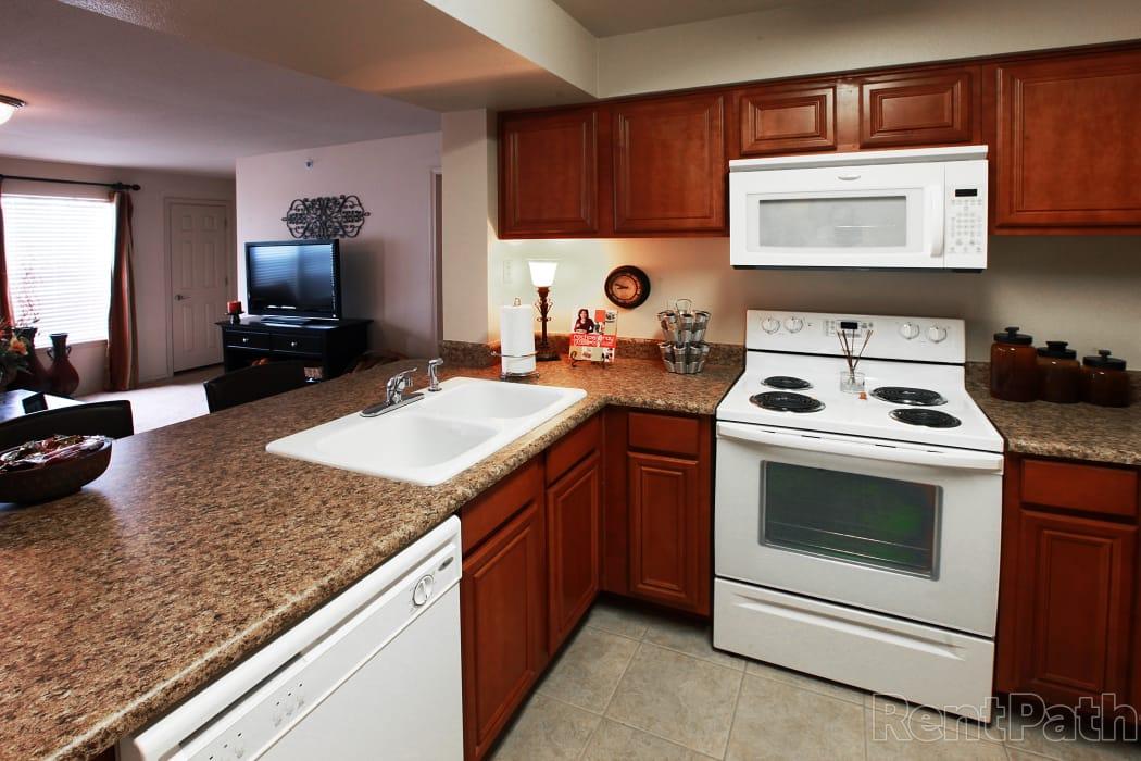Spacious kitchen at Prairie Springs in Oklahoma City, Oklahoma
