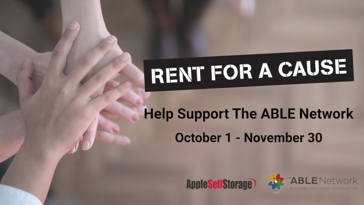 rent for a cause support the able network