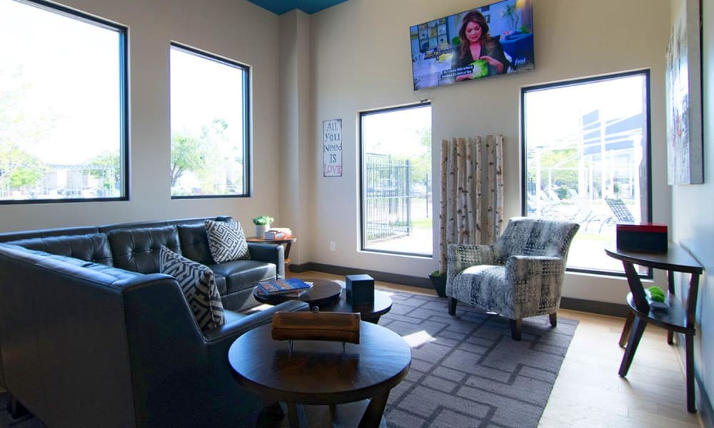 Bright clubhouse at 2111 Holly Hall in Houston, Texas