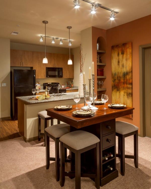 Fully equipped kitchen at The Addison at South Tryon in Charlotte, North Carolina