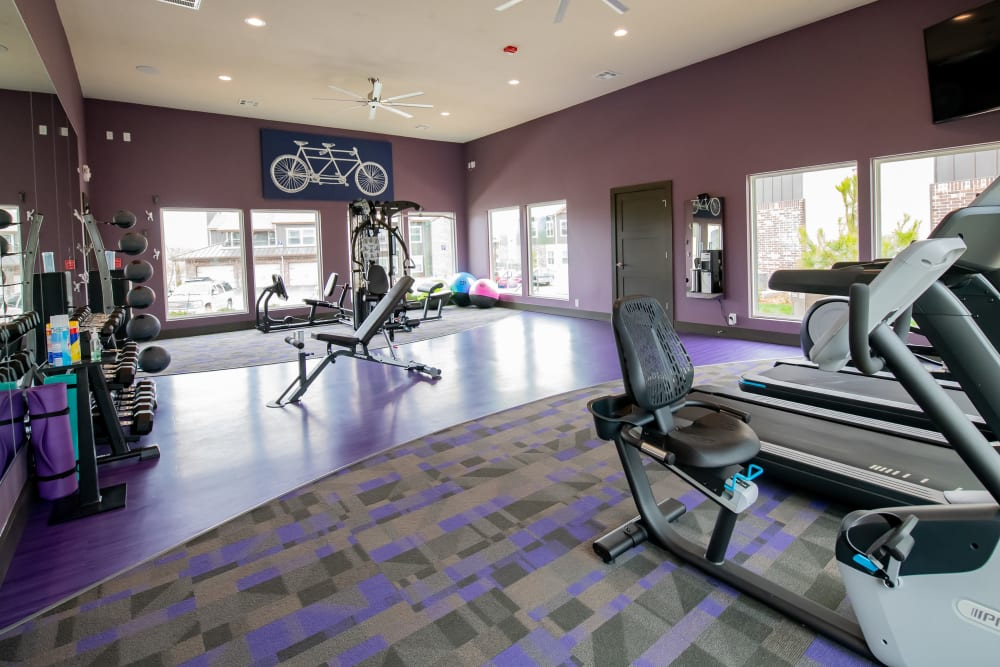 Fitness facility at Cedar Ridge in Tulsa, Oklahoma.