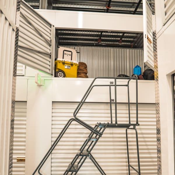Locker storage units of varying sizes at StorQuest Self Storage in Brooklyn, New York