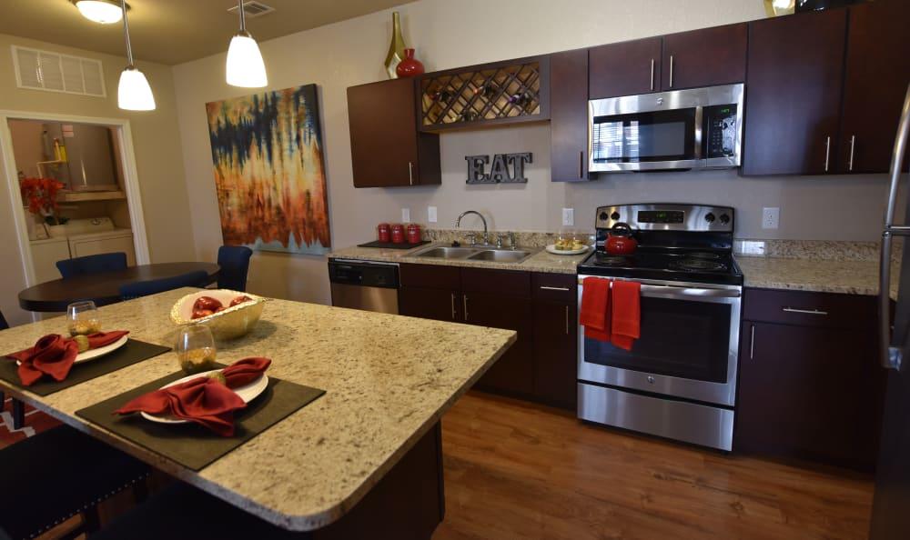 Modern Kitchen at Springs at Liberty Township Apartments in Liberty Township