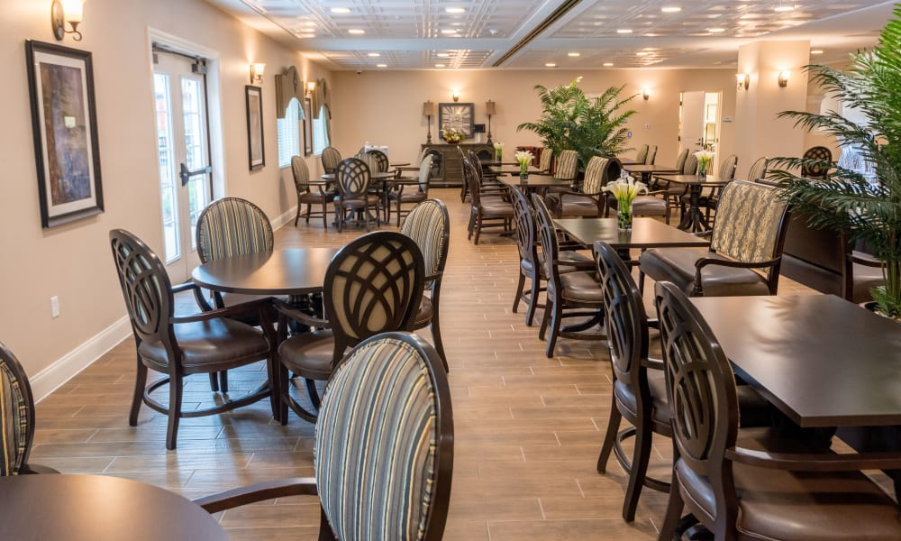 Resident dining room at Inspired Living in Royal Palm Beach, Florida