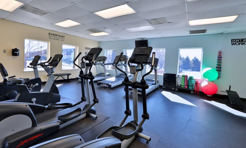 Fitness Center at Morningside Apartments & Townhomes in Owings Mills, Maryland