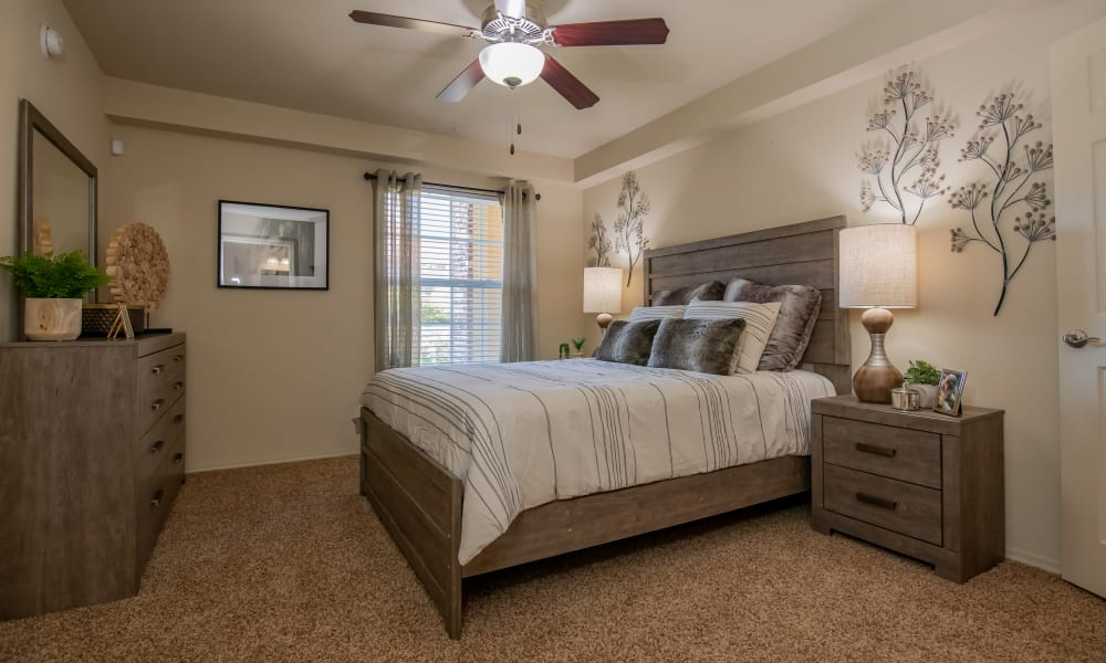 Large bedroom at Coffee Creek Apartments in Owasso, Oklahoma