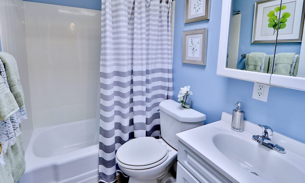 Bathroom at Gwynnbrook Townhomes in Baltimore, Maryland
