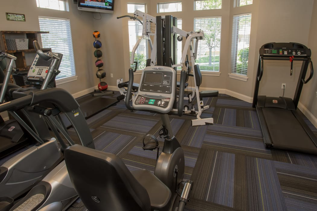 Fitness area at Villas of Waterford Apartments in Wichita, Kansas