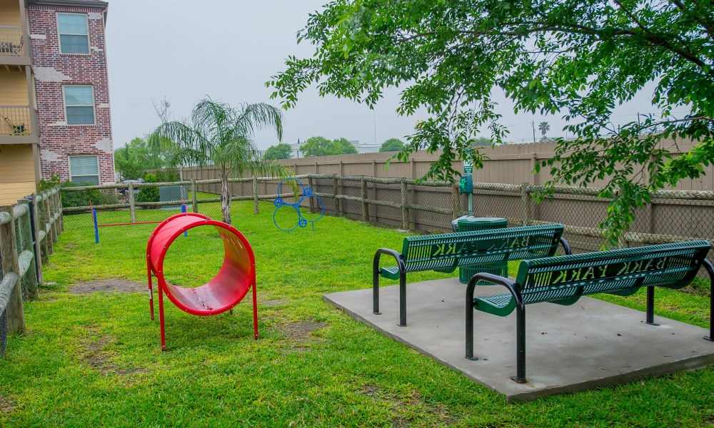 Dog park at Tuscana Bay Apartments in Corpus Christi, Texas