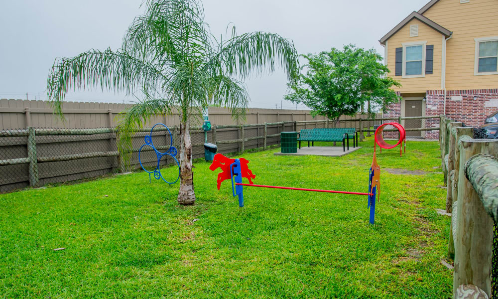 Spacious dog park at Tuscana Bay Apartments in Corpus Christi, Texas