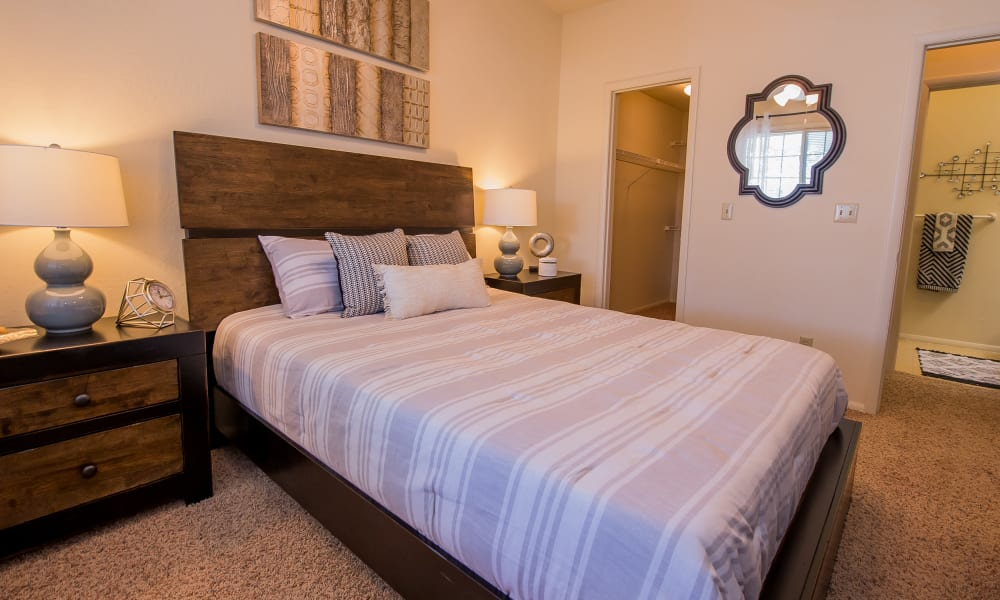 Spacious bedroom at The Courtyards in Tulsa, OK