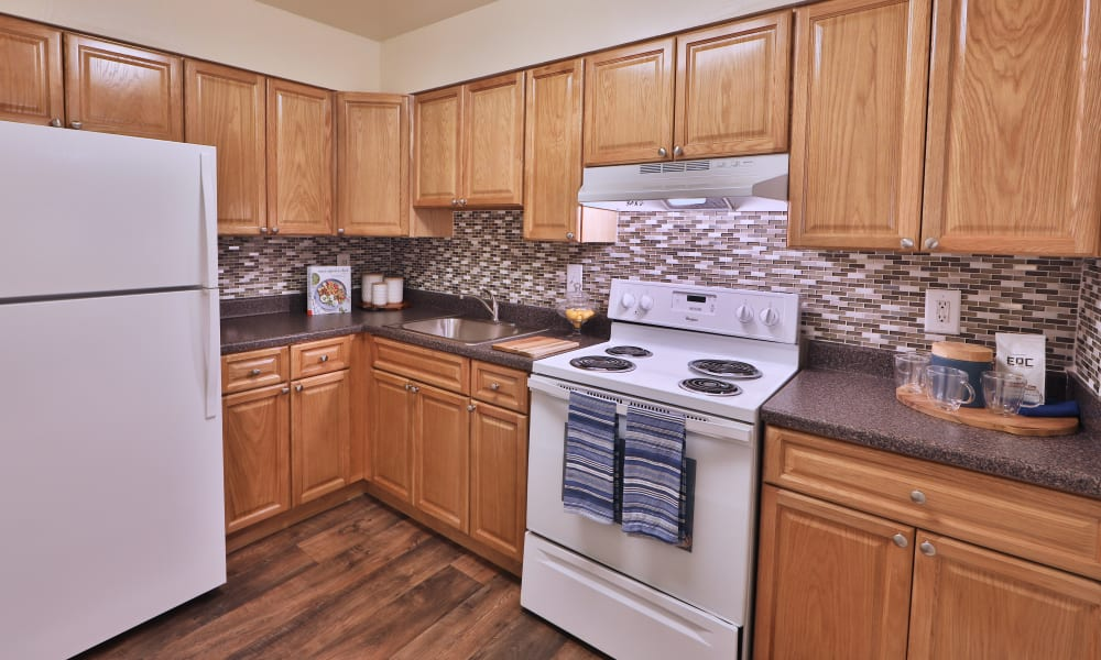Kitchen at The Willows Apartment Homes in Glen Burnie, Maryland