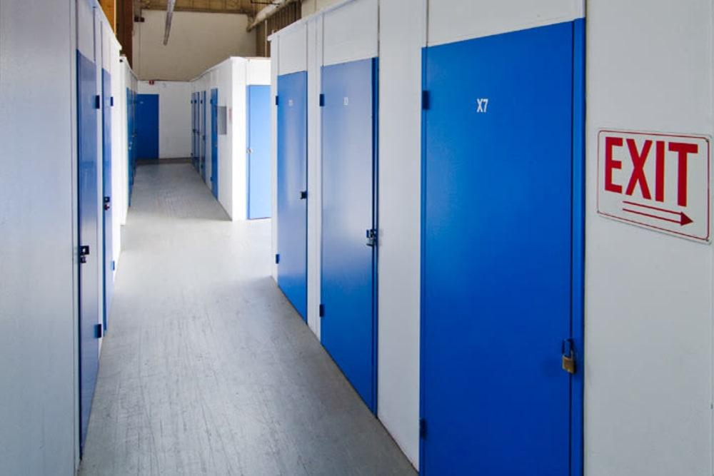 Storage units at A-American Self Storage in Santa Barbara, California