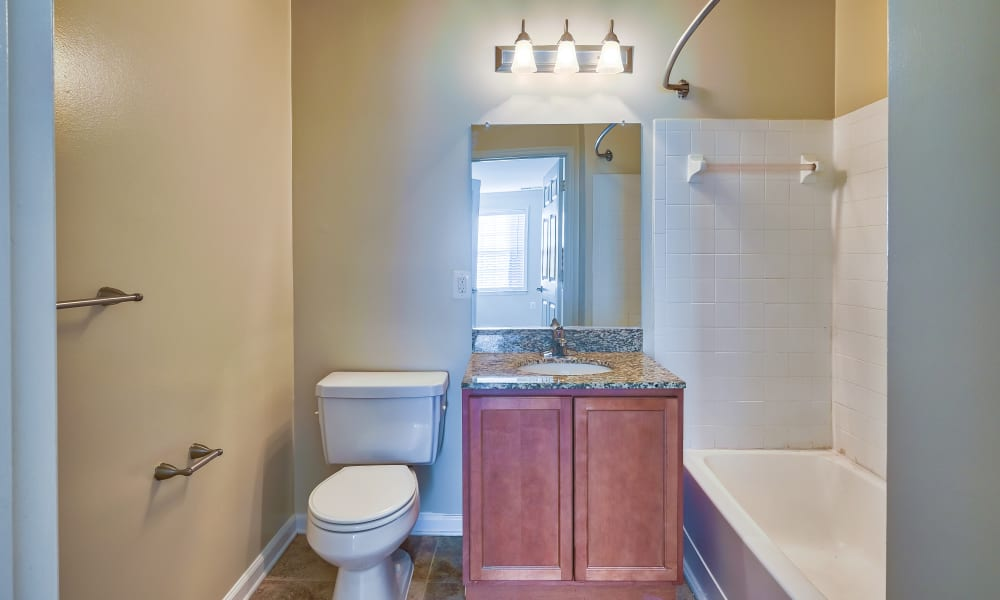 Bathroom at Abbotts Run Apartments in Alexandria, Virginia