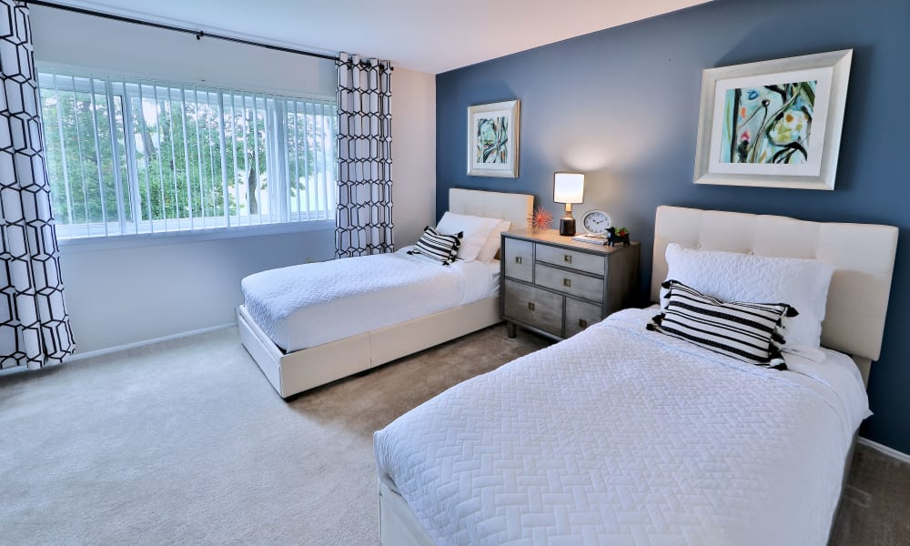 Bedroom at Gwynnbrook Townhomes in Baltimore, Maryland