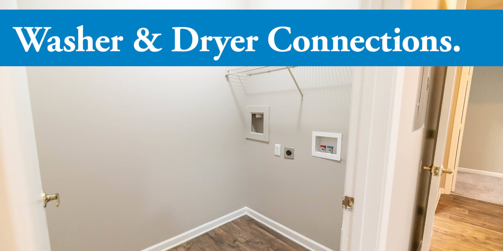 Washer/Dryer Connection at Clemmons Station Apartment Homes in Clemmons, North Carolina