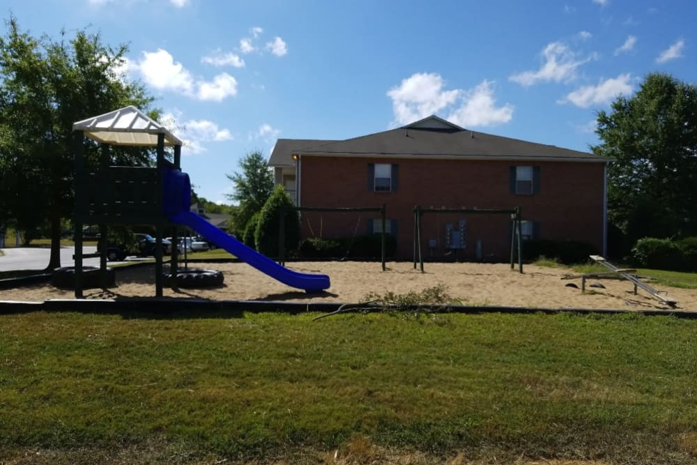 The playground for children at Park Trail Apartments in Shelbyville, Tennessee