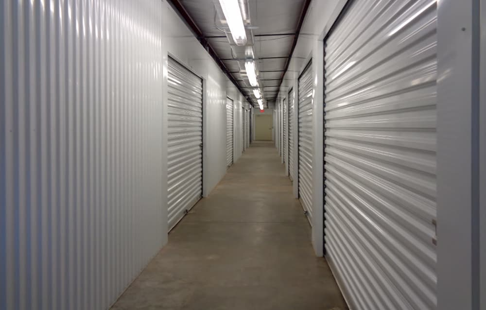 Indoor storage at Prime Storage in Hardeeville, South Carolina