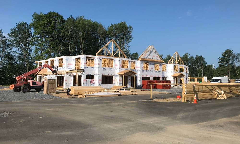 Beautiful building under construction at Enclave 50 in Ballston Spa, New York