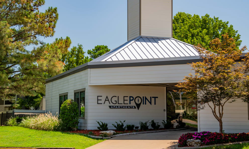Property clubhouse at Eagle Point Apartments in Tulsa, Oklahoma