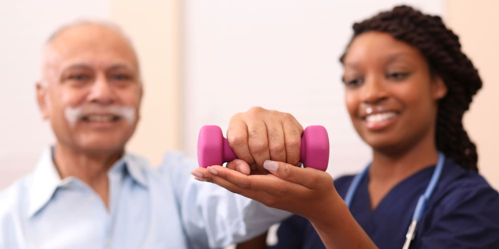 Cardio therapy at Mission Healthcare at Bellevue in Bellevue, Washington.