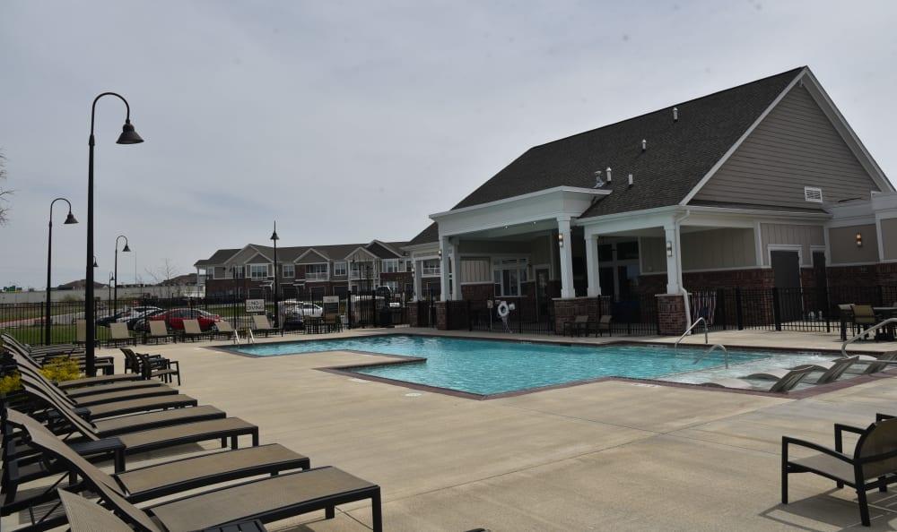 Resort style pool at Springs at Liberty Township Apartments in Liberty Township