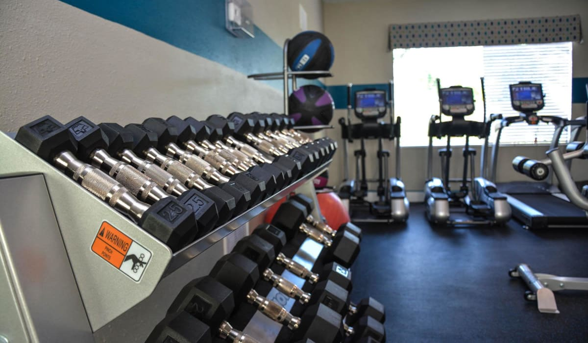 fitness center available to all Huntington Place residents