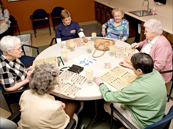 Residents playing a game at Patriots Landing in DuPont, Washington.