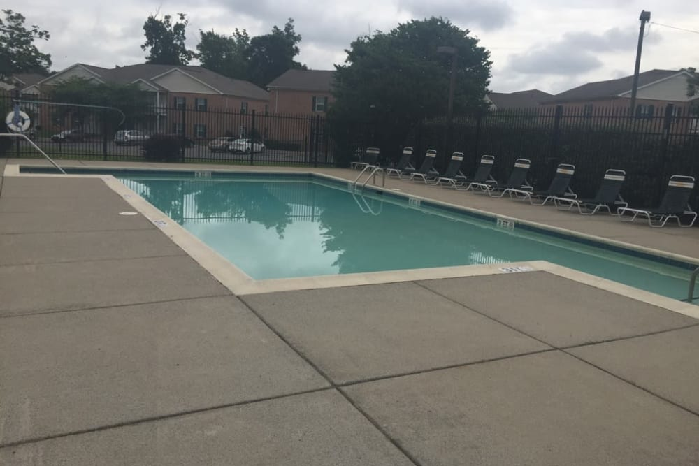 The community pool at Orchard Park Apartments in Clarksville, Tennessee