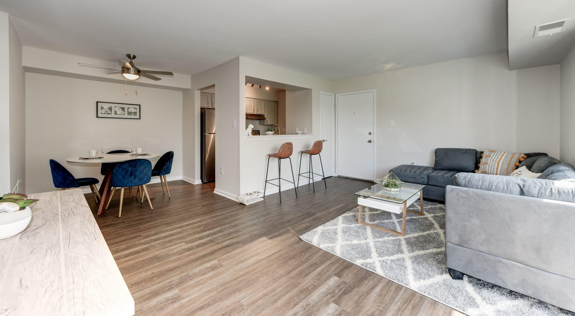Floor plans at The Landings I & II Apartments in Alexandria, Virginia