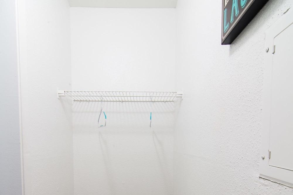 Spacious walk-in closets at apartments in Humble, Texas