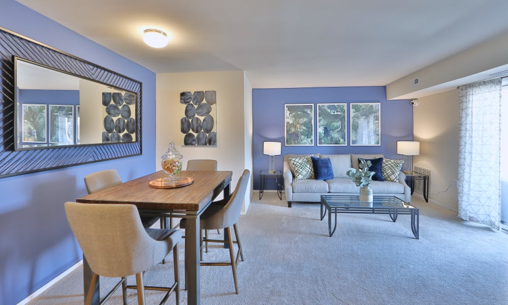 Beautiful Living Room at The Willows Apartment Homes in Glen Burnie, Maryland
