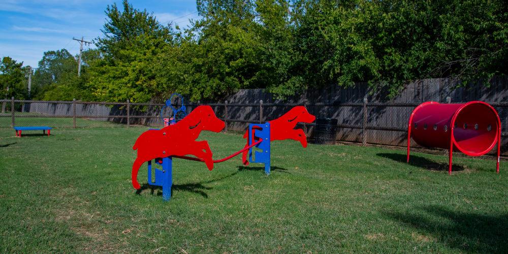 The onsite bark park at Tammaron Village Apartments in Oklahoma City, Oklahoma