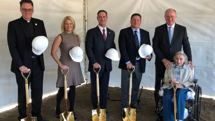 The October 26th groundbreaking of Clearwater at North Tustin.