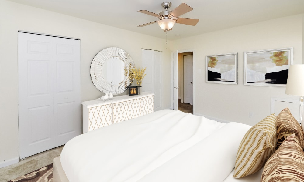 Bright Bedroom at Hill Brook Place Apartments in Bensalem, Pennsylvania