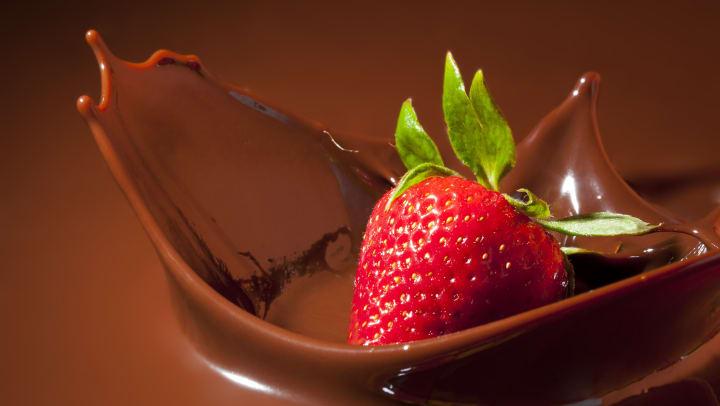 Strawberry Splashing in Chocolate