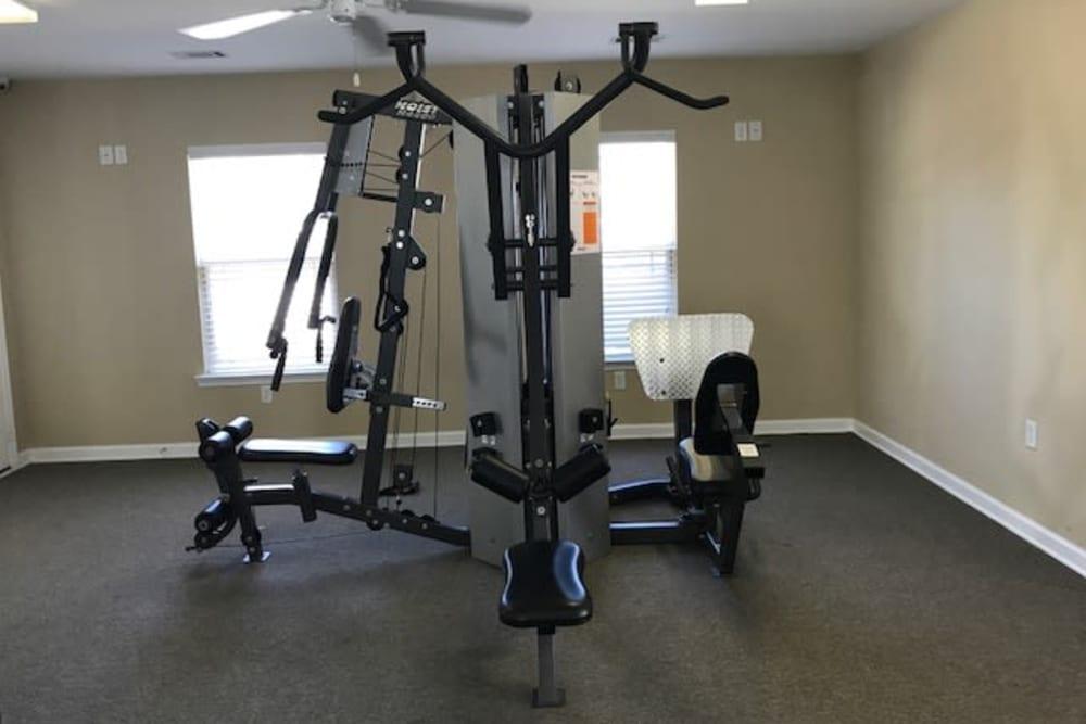 Fitness center at The Village at Mill Creek in Statesboro, Georgia.
