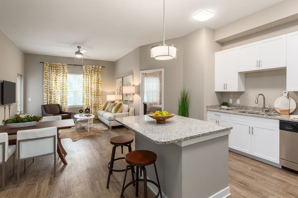 Bright kitchen at CitySide Apartments in Sarasota, FL