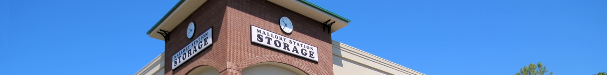 Contact us today at Mallory Station Storage in Brentwood, Tennessee
