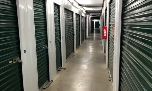 Interior storage units available at Storage Star Vacaville in Vacaville, California