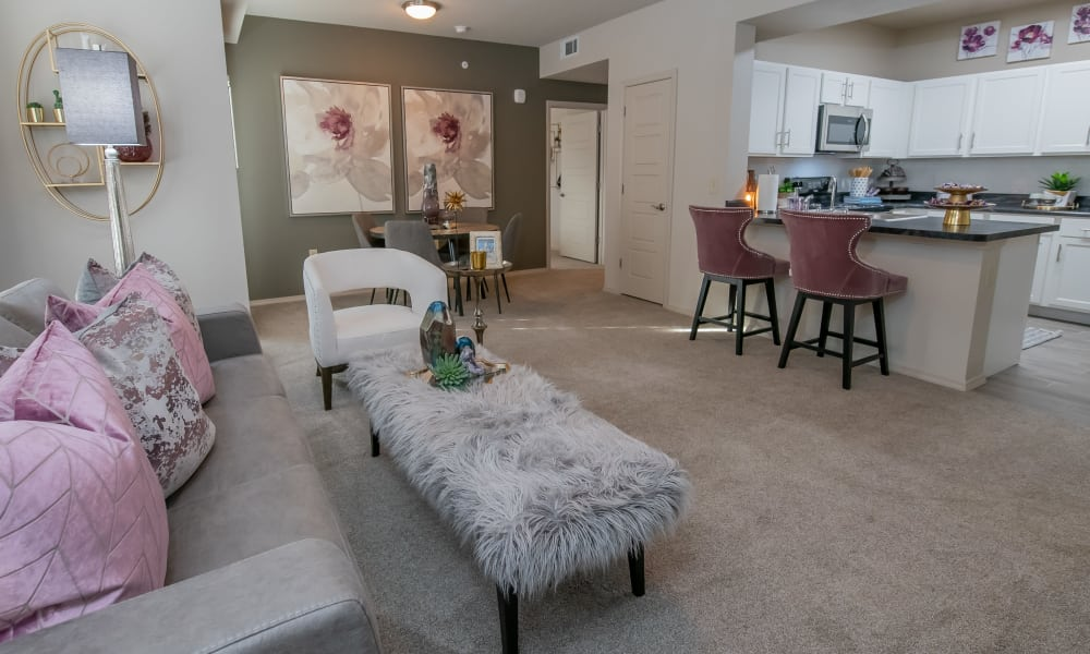 Open floor plan at Stonehorse Crossing Apartments in Oklahoma City, Oklahoma