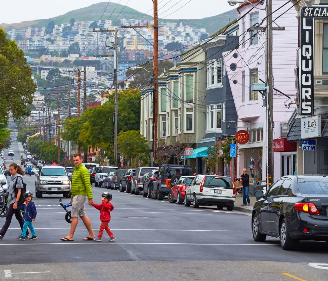 San Franciscan street view at Noe Valley Apartments in San Francisco, California