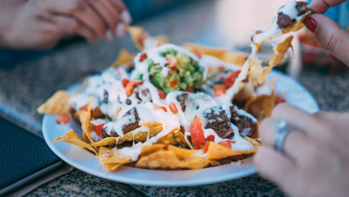 Delicous nachos served at Barrio Queen Restaurante near Redstone at SanTan Village in Gilbert, Arizona.