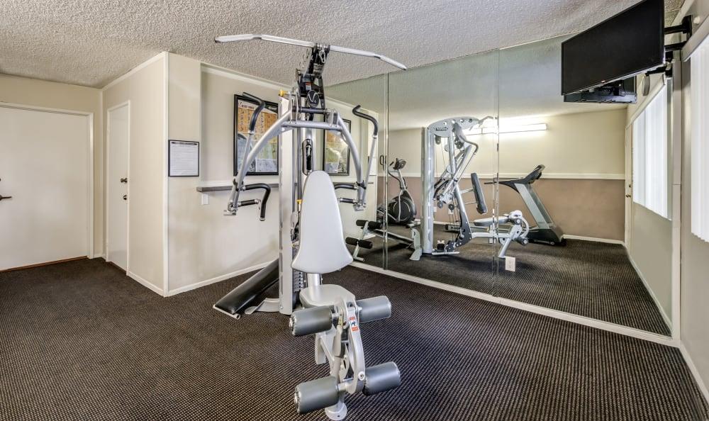 The Parkview fitness center equipment
