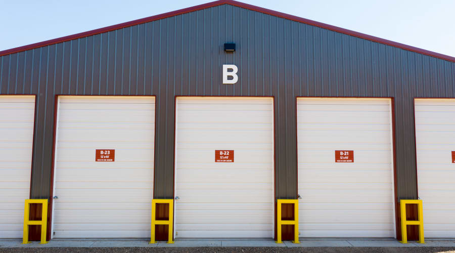 Exterior of outdoor units at KO Storage of Eau Claire in Eau Claire, Wisconsin