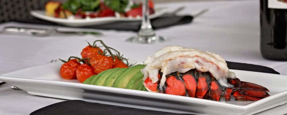Delicious dinner available for residents at The Springs at Veranda Park in Medford, Oregon