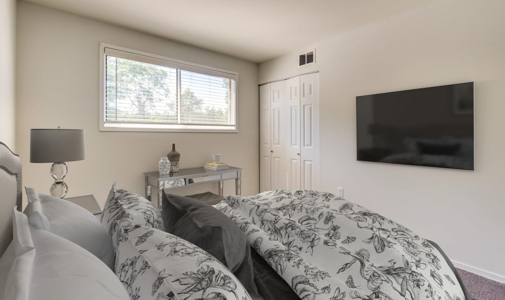 One bedroom at Capital Crossing in Suitland, Maryland